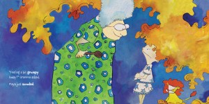 emotions, multi-generational, imagination, reverse psychology, play, understanding, grumpiness, grouchiness, moodiness, moods, humor, playground, grandmother, emotional control, mad, optimism, optimistic outlook, validating, fairness, caring, maya was grumpy